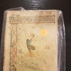 Coleccionismo Calendarios: ESQUELLA DE LA TORRATXA ALMANACH 1890. Lote 104982715