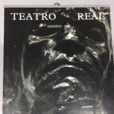 Coleccionismo Calendarios: CALENDARIO TEATRO REAL DE PARED DE 1970. FOTOS DE GYENES. Lote 105070314