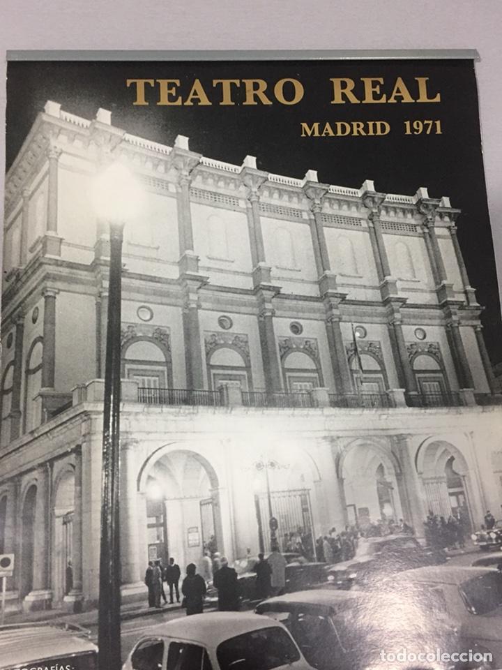 CALENDARIO TEATRO REAL DE PARED 1971. FOTOS GYENES (Coleccionismo - Calendarios)