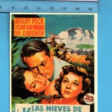 Coleccionismo Calendarios: CALENDARIOS DE CINE LAS NIEVES DE KILIMANJARO DE COLECCIÓN CLÁSICOS CINE Nº 51 AÑO 2006 . Lote 105158839