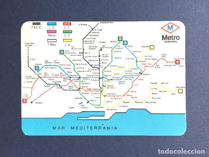 Calendario Bolsillo 1995 Mapa Metro Barcelona Buy Old Calendars