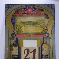 Coleccionismo Calendarios: CALENDARIO VIÑA TONDONIA. RAFAEL LÓPEZ DE HEREDIA. (MEDIO METRO). Lote 105991135