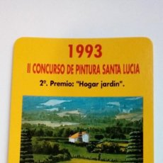 Coleccionismo Calendarios - CALENDARIO FOURNIER SEGUROS SANTA LUCIA 1993 II CONCURSO DE PINTURA SANTA LUCIA 2º PREMIO - 107606087