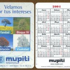 Coleccionismo Calendarios: CALENDARIOS BOLSILLO FOURNIER 2004 - MUPITI. Lote 112069926