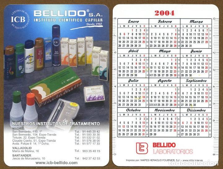 CALENDARIOS BOLSILLO FOURNIER 2004 - BELLIDO (Coleccionismo - Calendarios)