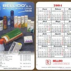 Coleccionismo Calendarios: CALENDARIOS BOLSILLO FOURNIER 2004 - BELLIDO. Lote 112069972