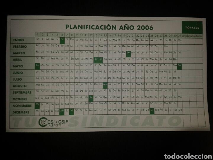 Calendario Csi.Calendario Planificacion Ano 2006 Sindicato Csi Csif Albacete