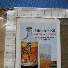 Coleccionismo Calendarios: CALENDARIO DE FOURNIER PUBLICIDAD DE GREEN FISH 1967 . Lote 109337579