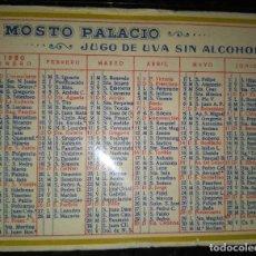 Coleccionismo Calendarios: AÑO 1950. CALENDARIO ESPAÑOL DE MOSTO PALACIO. AÑO 1950.. Lote 109507715