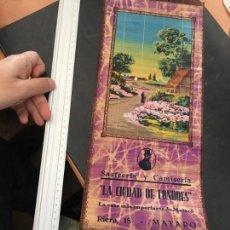 Coleccionismo Calendarios: CALENDARIO PARED 1934 SASTRERIA Y CAMISERIA LA CIUDAD DE LONDRES DE MATARO 52 X 18 CM (HAB). Lote 110150831