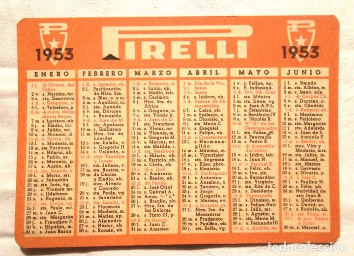 Calendario Santoral.Calendari Pirelli 1953 Santoral Impecable Calendario
