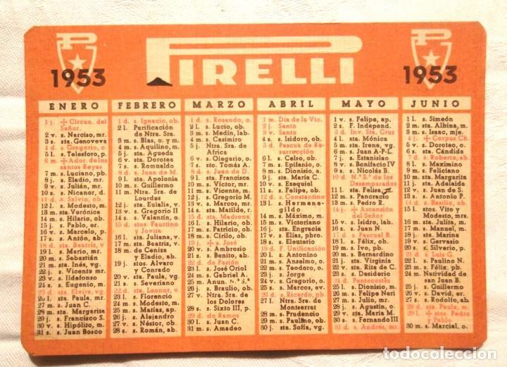 Calendario M.Calendari Pirelli 1953 Santoral Impecable Calendario