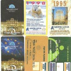 Coleccionismo Calendarios: LOTE 8 CALENDARIOS DE BOLSILLO FOURNIER. Lote 110754095