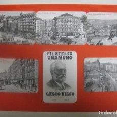 Coleccionismo Calendarios: LOTE 6 CALENDARIOS DIFERENTES BILBAO FILATELIA UNAMUNO 2003. Lote 172318634
