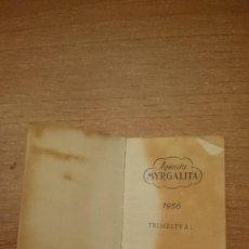 Coleccionismo Calendarios: PEQUEÑA AGENDA MYRGALITA AÑO 1956 TRIMESTRAL PRODUCCIONES MYRGA. Lote 111096383