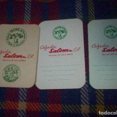 Coleccionismo Calendarios: MAGNÍFICO LOTE DE 3 CALENDARIOS CALZADOS SALOM. CALZADOS GORILA. PLAMA DE MALLORCA. 1966-1972.. Lote 111324463