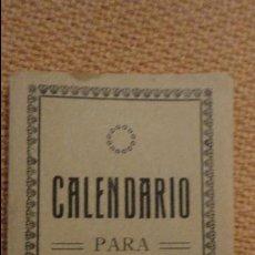 Coleccionismo Calendarios: ANTIGUO CALENDARIO PARA 1919. Lote 111392247