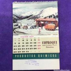 Colecionismo Calendários: CALENDARIO DE SOBREMESA DE 1957 DE PRODUCTOS QUÍMICOS COPROQUI BARCELONA COMO NUEVO SIN DESPLEGAR. Lote 111547447