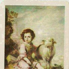 Coleccionismo Calendarios: FOURNIER DE 1972 : EL BUEN PASTOR DE MURILLO. APOSTOLADO DE FATIMA. Lote 179551652