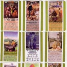 Coleccionismo Calendarios: -69328 10 CALENDARIOS PINTURAS CARTELES DE TOROS, AÑO 2007, PINTURAS TAURINAS CON PUBLICIDAD. Lote 112076712