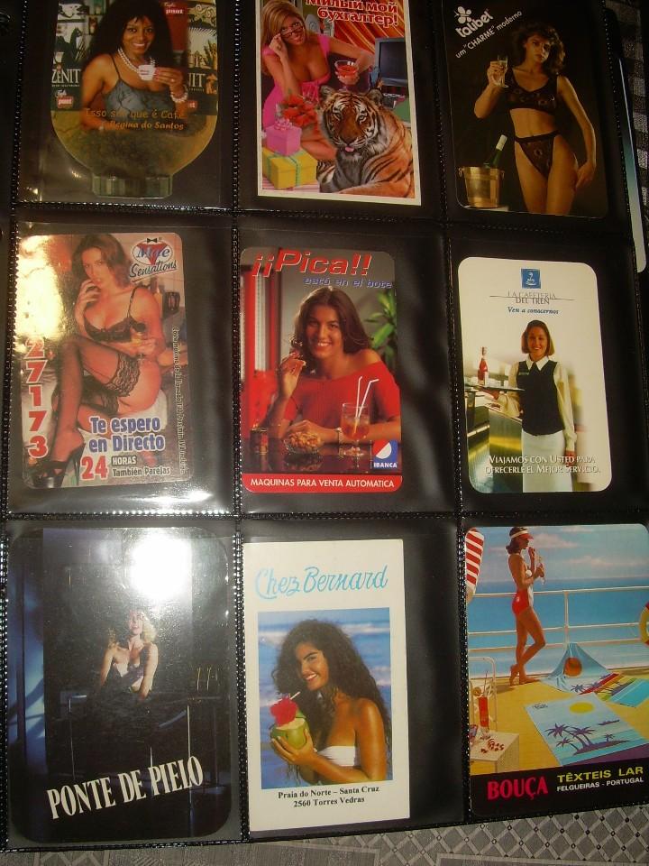 Coleccionismo Calendarios: ALBUM CON COLECCION PECULIAR DE.. 467 CALENDARIOS DE CHICAS FUMANDO Y BEBIENDO. - Foto 25 - 112271987