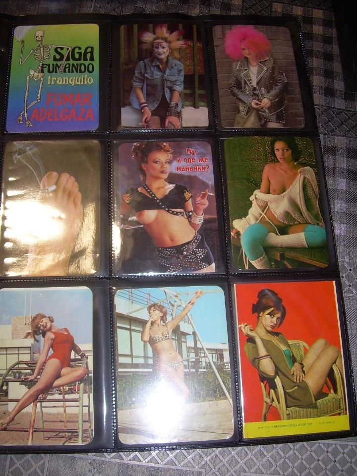 Coleccionismo Calendarios: ALBUM CON COLECCION PECULIAR DE.. 467 CALENDARIOS DE CHICAS FUMANDO Y BEBIENDO. - Foto 55 - 112271987