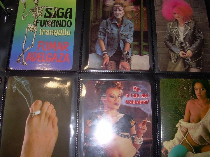 Coleccionismo Calendarios: ALBUM CON COLECCION PECULIAR DE.. 467 CALENDARIOS DE CHICAS FUMANDO Y BEBIENDO. - Foto 56 - 112271987