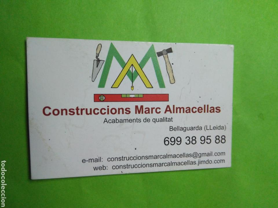 CALENDARIO BOLSILLO 2015 CONSTRUCCIONS MARC ALMACELLAS (Coleccionismo - Calendarios)