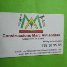 Coleccionismo Calendarios: CALENDARIO BOLSILLO 2015 CONSTRUCCIONS MARC ALMACELLAS. Lote 112377199