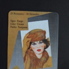 Coleccionismo Calendarios: CALENDARIO BOLSILLO - HORÓSCOPO - SAGITARIO - SERIE BO Nº 5414 - AÑO 1990. Lote 191416901