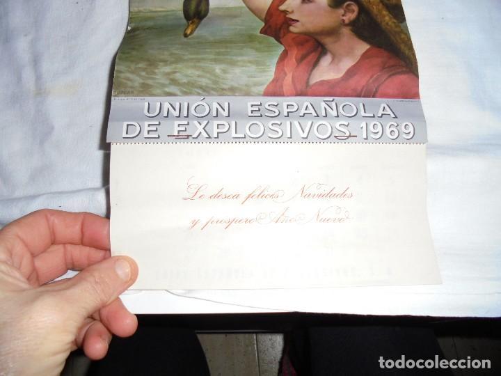 Coleccionismo Calendarios: ANTIGUO CALENDARIO DE PARED 1969.UNION ESPAÑOLA DE EXPLOSIVOS - Foto 2 - 152699269