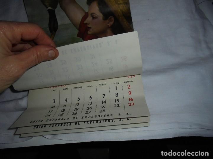 Coleccionismo Calendarios: ANTIGUO CALENDARIO DE PARED 1969.UNION ESPAÑOLA DE EXPLOSIVOS - Foto 3 - 152699269