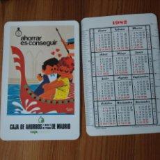Coleccionismo Calendarios: CALENDARIO FOURNIER CAJA AHORROS MADRID 1982. Lote 113506068