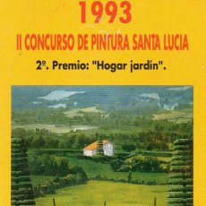Coleccionismo Calendarios: CALENDARIO FOURNIER AÑO 1993 SANTA LUCIA 2º PREMIO. Lote 112992507