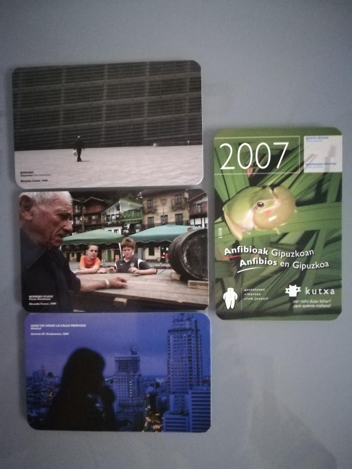 4 CALENDARIOS DE LA KUTXA (CAJA SAN SEBASTIAN) DE 2007 (Coleccionismo - Calendarios)