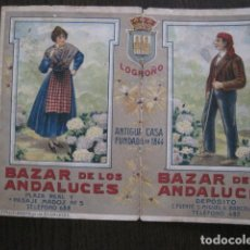 Coleccionismo Calendarios: CALENDARIO ALMANAQUE BAZAR DE LOS ANDALUCES - AÑO 1913 - LOGROÑO -VER FOTOS-(V-13.479). Lote 113082583