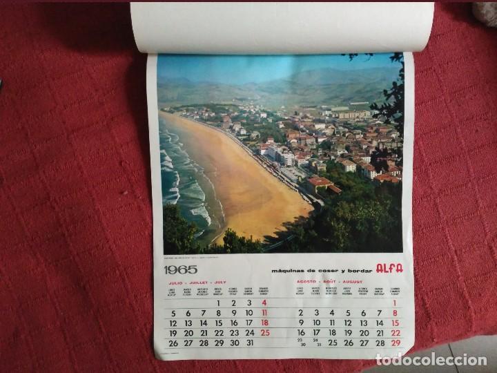 Coleccionismo Calendarios: calendario pared alfa completo 1965 fotos de guipuzcoa - Foto 2 - 113318607