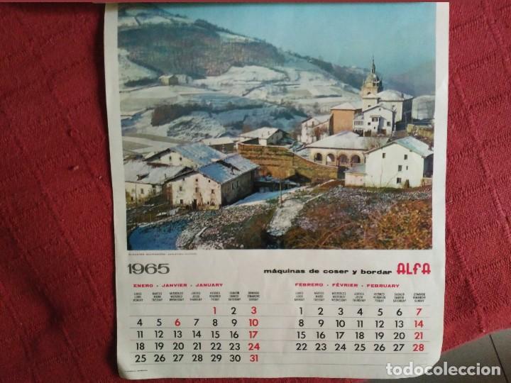 Coleccionismo Calendarios: calendario pared alfa completo 1965 fotos de guipuzcoa - Foto 4 - 113318607