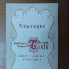 Coleccionismo Calendarios: ALMANAQUE IMPRENTA TASIS BARCELONA 1953. Lote 113486603