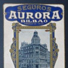Coleccionismo Calendarios: SEGUROS AURORA, BILBAO - PRECIOSO CALENDARIO AÑO 1929. Lote 113506875