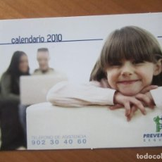 Coleccionismo Calendarios: CALENDARIO SEGUROS PREVENTIVA 2010. Lote 143223048