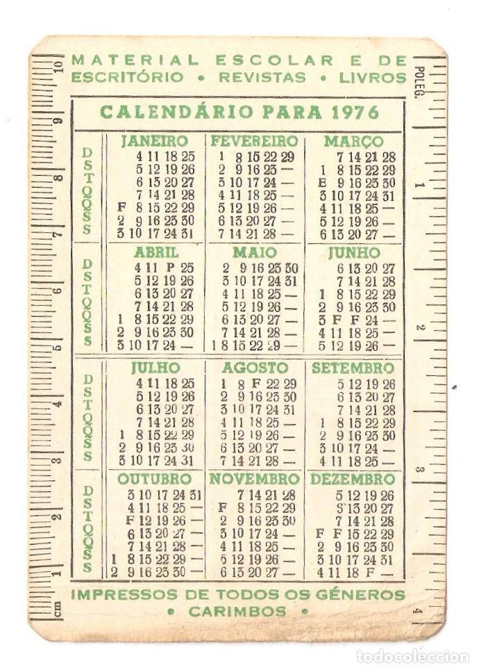 Calendario De 1976 Completo.Dos Calendarios Del Bolsillo De Los Anos 1974 Y 1976 Portugal Precio De Saida 1