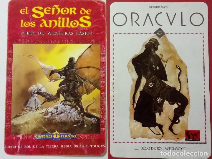 2 CALENDARIOS, SEÑOR DE LOS ANILLOS Y ORÁCULO, AÑO 1996 (Coleccionismo - Calendarios)