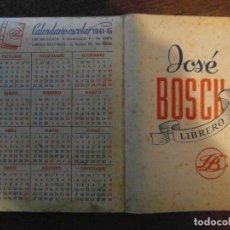 Coleccionismo Calendarios: CALENDARIO ESCOLAR 1944-1945. Lote 114683483