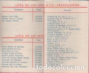 Coleccionismo Calendarios: calendario de la farmacia de Manresa fernando ferrer plaza mártires,12 1975 lista sanitaria - Foto 2 - 114735459