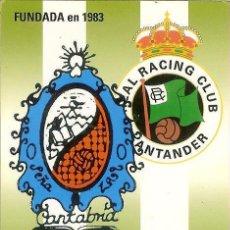 Coleccionismo Calendarios: CALENDARIO PUBLICITARIO - 2010 - PEÑA RACINGUISTA ZALO - SANTANDER. Lote 114943335