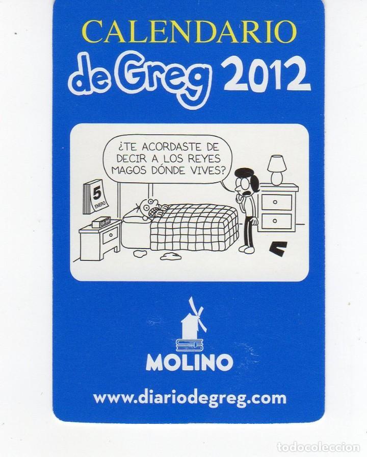 Calendario Diario.Calendario Bolsillo Editorial Molino Diario De Greg Ano 2012