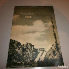 Coleccionismo Calendarios: CALENDARIO DE PARED 1956 CIMENTACIONES ESPECIALES SA PROCEDIMIENTOS RODIO OBRAS HECHAS EN 1956. Lote 116357375