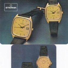 Coleccionismo Calendarios: 2 CALENDARIOS EXTRANJERO 1985 Y 1987 - RELOJ ETERNA. Lote 116563183