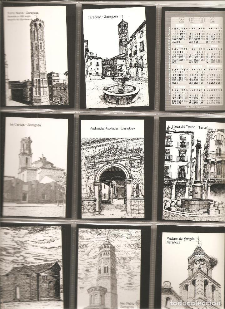 18 CALENDARIOS, VISTAS DE ARAGÓN, DIBUJOS A PLUMILLA DE ALFONSO CIFUENTES, 2002, TODOS DISTINTOS, (Coleccionismo - Calendarios)